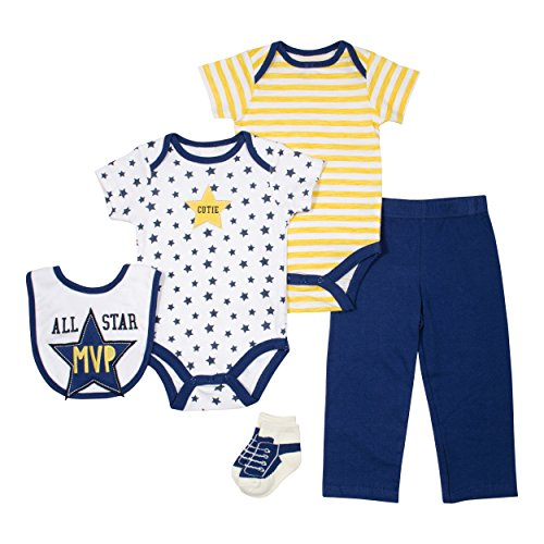 Baby Gear Baby-Boys 5 Piece Character SS Multi Outfit Set MVP 0-3 M