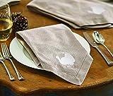 Mud Pie Thanksgiving Cotton Napkins (Set of 4), Turkey