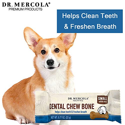 Image of Dr. Mercola Dental Chew Bones - 12  Pack - Small Dogs Up To 25 lbs - Helps Clean Teeth and Freshen Breath - A Completely Digestible Tasty Oral Care Treat for Dogs