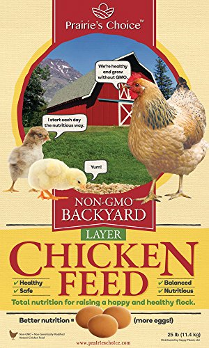 - Prairie's Choice Non-GMO Backyard Chicken Feed - Layer Formula, 25lbs