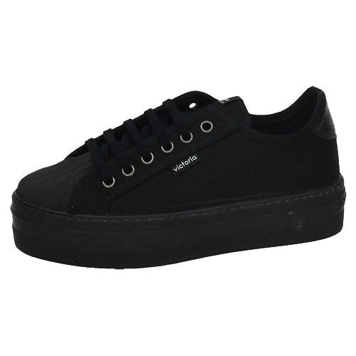 VICTORIA 132900 Plataformas VICTORIA Mujer Zapatillas Negro 38: Amazon.es: Zapatos y complementos