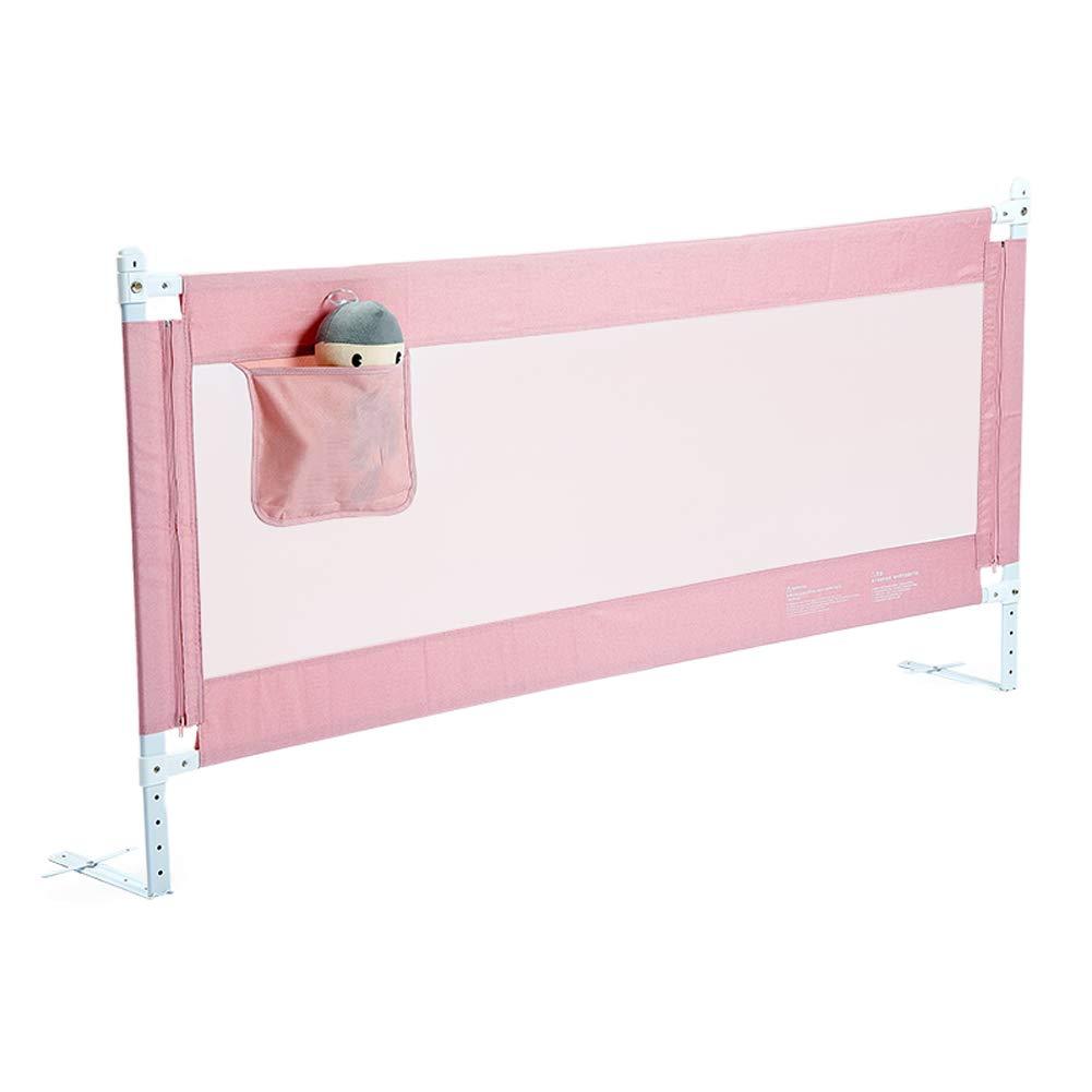 ベッドレール アンチフォールベビーベッドレール、子供用セーフスリープベッドサイドガードベッドレール、収納袋付き、垂直リフトベッドガードレール、カラーサイズ (色 : Pink, サイズ さいず : 2.2m) 2.2m Pink B07LDBGVZ3