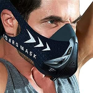 Máscaras scaras de deportes, estilo negro, máscara;scara para entrenamiento y acondicionamiento de gran altitud, máscara scara deportiva 2.0 con máscara de FDBRO, negro, Size M(70-100kg)
