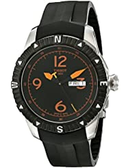 Tissot Mens  T Navigator Black/Orange Dial Black Rubber Strap DateDay Automatic Watch T062.430.17.057.01