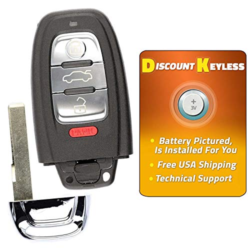 For 08-16 Audi A4 A5 Q5 A6 A7 A8 Keyless Entry Remote Smart Key Fob IYZFBSB802
