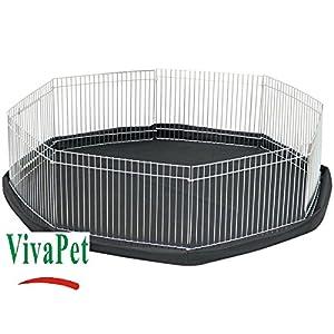 VivaPet – Parque para Animales con Paneles Laterales, Octogonal, para roedores y Cachorros, con 8 Paneles, pequeño, 86…
