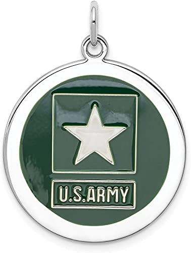 Sterling Silver US Army Logo Disc