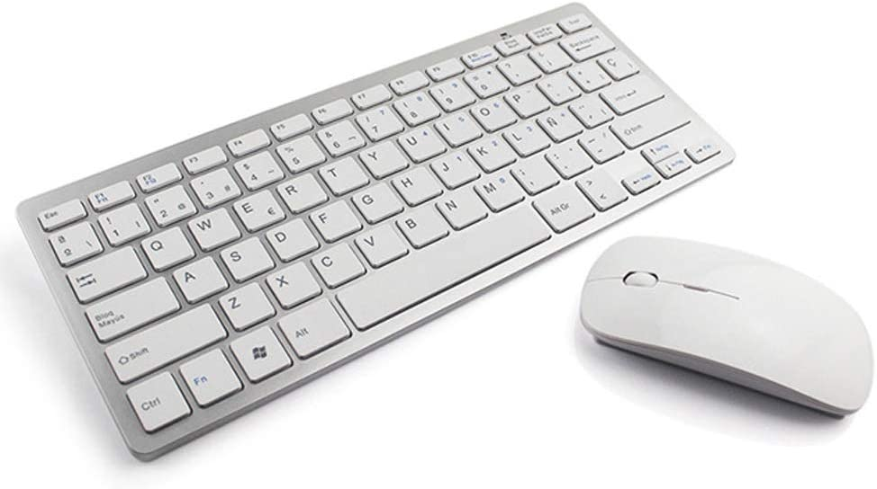 Ultra Slim Wireless Keyboard and Mouse Combo Laptop 2.4 GHz Wireless,for Computer Long Range Wireless Connection PC Desktop Notebook