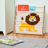 CUSTOM EMBROIDERED MONOGRAMMED PERSONALIZED 3 Sprouts Book Rack – Lion