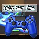 Wiv77 Blue Wireless Controller Fits for PS4, Mando