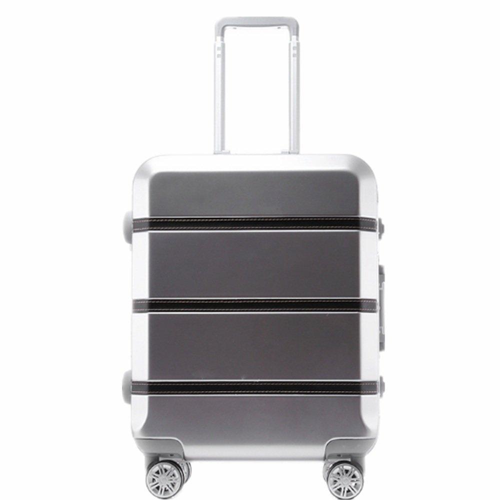 旅行用品荷物スーツケーストロリーケース プレミアム回転アルミフレームプルボックス搭乗ボックス20インチトランクスーツケースベルトパスワードボックス (サイズ : 28) B07SXKKFSG  28