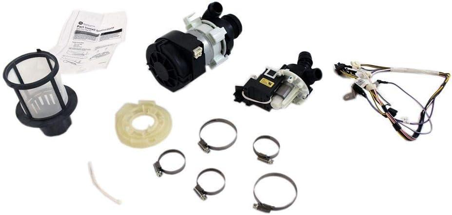 GE WD49X23779 Dishwasher Drain Pump Kit Genuine Original Equipment Manufacturer (OEM) Part