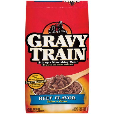 Puppy Food 35 Lb Bag (DELMONTE FOODS 799272 Gravy Train Dry for Dogs, 35-Pound)