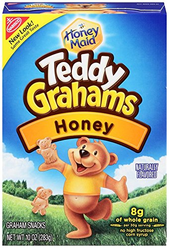 Teddy Grahams Snacks, Honey, 10-Ounce Boxes (Pack of 6) by Teddy Grahams