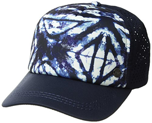 Roxy Junior's Waves Machines Trucker Hat, Dress Blues Geometric Feeling, One Size ()