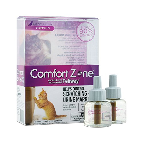 Comfort Zone Feliway Diffuser Refill, 2 Pack, For Cat Calming - 2 Pack - Polyester Furniture Cover