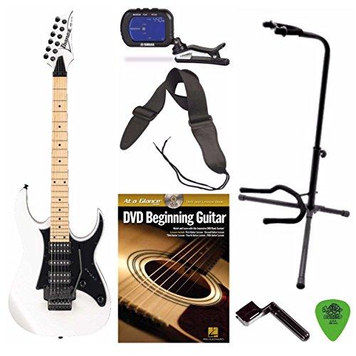 Ibanez RG450M RG Series Electric Guitar (White) + Free DVD, Pics, Strap, Winder, Tuner & Guitar Stand