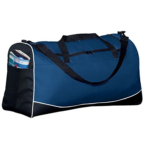 Augusta Activewear Large Tri-Color Sport Bag, Navy/Black/White, One Size (Color Tri Sport Bag)