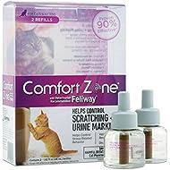 Comfort Zone with Feliway Diffuser Refills For Cat Calming, 2 Pack