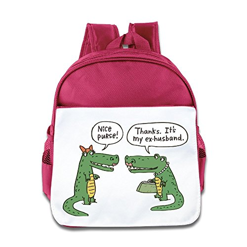 - NATY Nice Purse Funny Cartoon Crocodile Unisex School Backpacks With Pink For Youth
