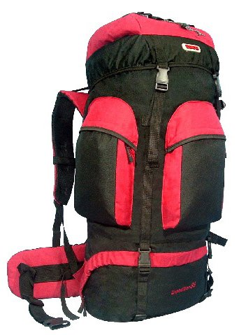 CUSCUS Internal Frame Hiking Travel Backpack 88L 6200ci Camping Journey Red, Outdoor Stuffs