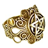 Large Bronze Ornate Pentacle pentagram Ring Pagan Wiccan Jewelry (sz 4-15) sz 8