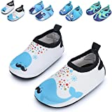 #10: JIASUQI Baby Boys and Girls Barefoot Swim Water Skin Shoes Aqua Socks for Beach Swim Pool