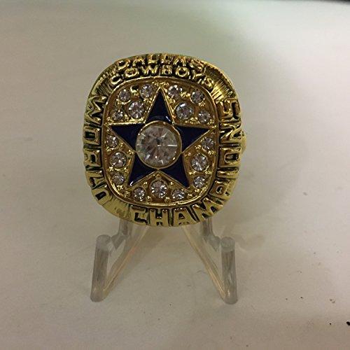 1971 Roger Staubach Dallas Cowboys High Quality Replica Super Bowl VI Ring Size 11-Colored Gold, Blue Star Logo