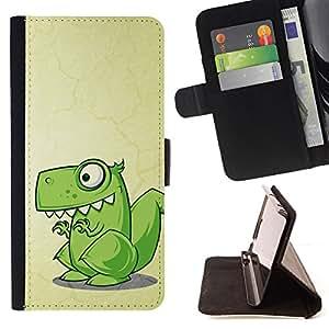 - Cute Funny T-Rex Dinosaur - - Prima caja de la PU billetera de cuero con ranuras para tarjetas, efectivo desmontable correa para l Funny HouseFOR Samsung Galaxy S6