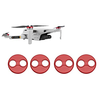 Tineer Aluminum Motor Cover Cap 4 Pieces for DJI Mavic Mini Drone Accessory - Dustproof,Waterproof,Scratchproof Protection Case Cover Mounts (Red): Camera & Photo