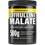 PrimaForce Citrulline Malate Powder Supplement – Enhances Strength Performance/Improves Muscle Recovery, 500 Grams