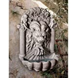 Design Toscano Wall Mounted Water Fountain – 3 Foot Tall House of York Lion Fountain – Outdoor Water Feature Wall Niche For Sale