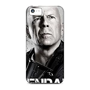 RobertWood CLi4071SuUC Cases For Iphone 5c With Nice Bruce Willis In Expendables 2 Appearance