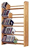The Wood Shed 501 C Solid Oak CD Rack, Clear