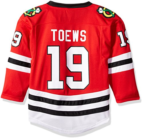 NHL Chicago Blackhawks Jonathan Toews Youth Outerstuff Replica Home-Team Jersey, Team Color, Youth Large (12-14) (Blackhawks Toews Jersey)