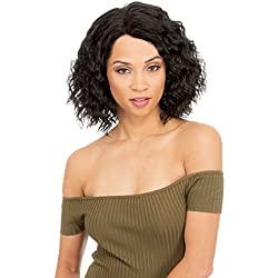 IamAHair MLN43 MAGIC LACE NATURAL HAIRLINE 43 Synthetic Lace Front Wig for Women New Born Free: Short Wavy Medium Length wig - FS4/30