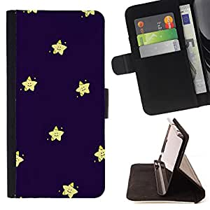 King Air - Premium PU Leather Wallet Case with Card Slots, Cash Compartment and Detachable Wrist Strap FOR Sony Xperia Z1 M51W Z1 mini D5503- Super Stars stars