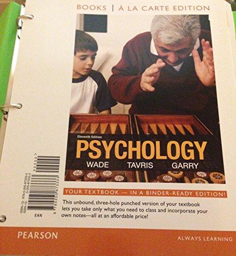 Psychology: Books a La Carte Edition