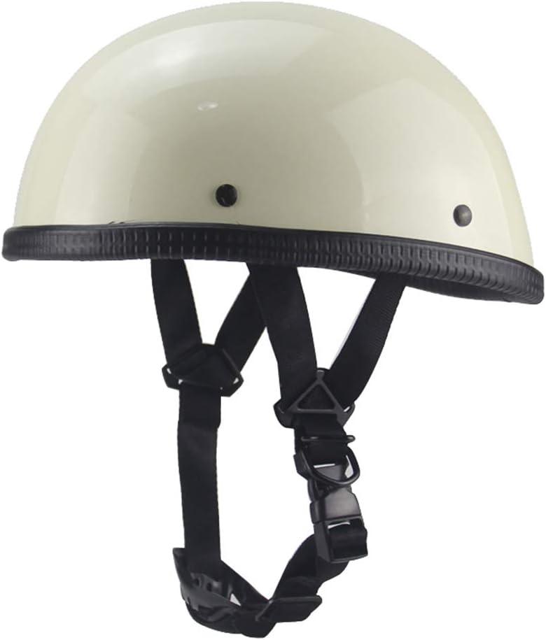 55-63 cm Wei/ß Schutz Shell Helm f/ür Scooter-Bike Motorrad-Halb Offener Helm DOT-Zertifizierung Gr/ö/ße