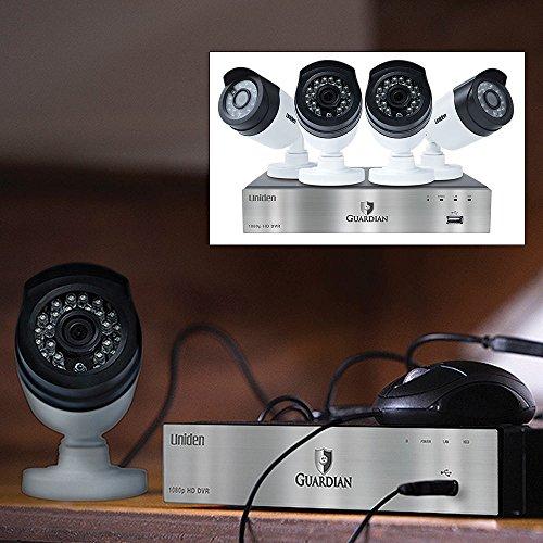 Uniden Guardian G6440D1 4-Channel Wired Video Surveillanc...