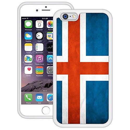 Island Flagge | Handgefertigt | iPhone 6 6s (4,7') | Weiß TPU Hülle