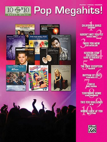 10 For 10 Sheet Music: Pop Megahits Piano Vocal And Guitar