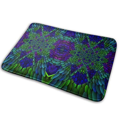 Mitra Blue Green Abstract Art Gingezel_3108 Entrance Mat Floor Mat Rug Front Door Bathroom Kitchen and Living Room Bedroom Mat with Non-Slip Rubber Backing, Printing Door Mat 15.7