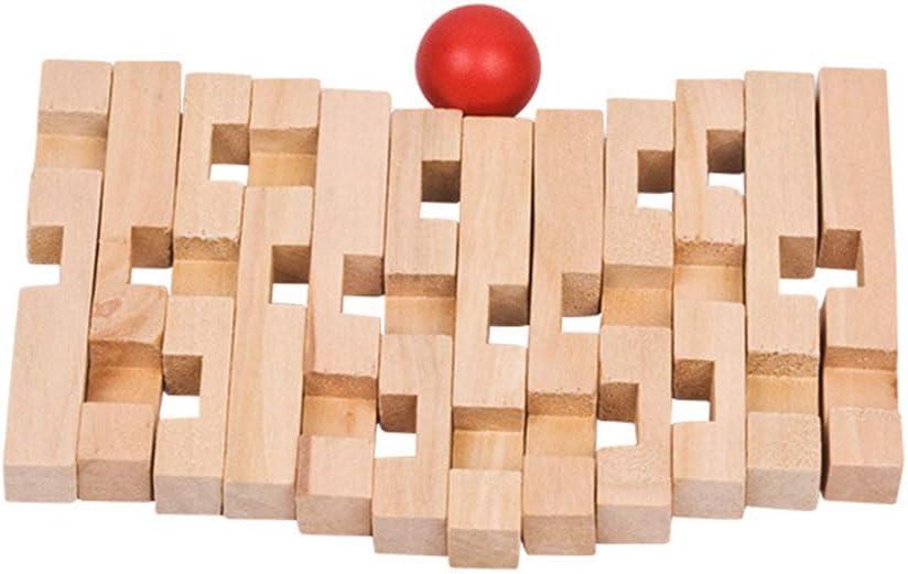 Two-Color Six-Way Juego Logica de para Ni/ños y Adultos Juegos de Ingenio IQ Juguete Educativos MINGZE Puzzle Madera 3D para ni/ños Juguete para el hogar Oficina decoraci/ón ecol/ógica Regalo