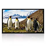 """Pyle 110"""" Matt White Home Theater TV Wall Mounted Fixed Flat Projector Screen - 110 inch 16:9 Full HD Projection - Easy to Set Up for Room Video, Slideshow, Movie / Film Showing - PRJTPFL112"""