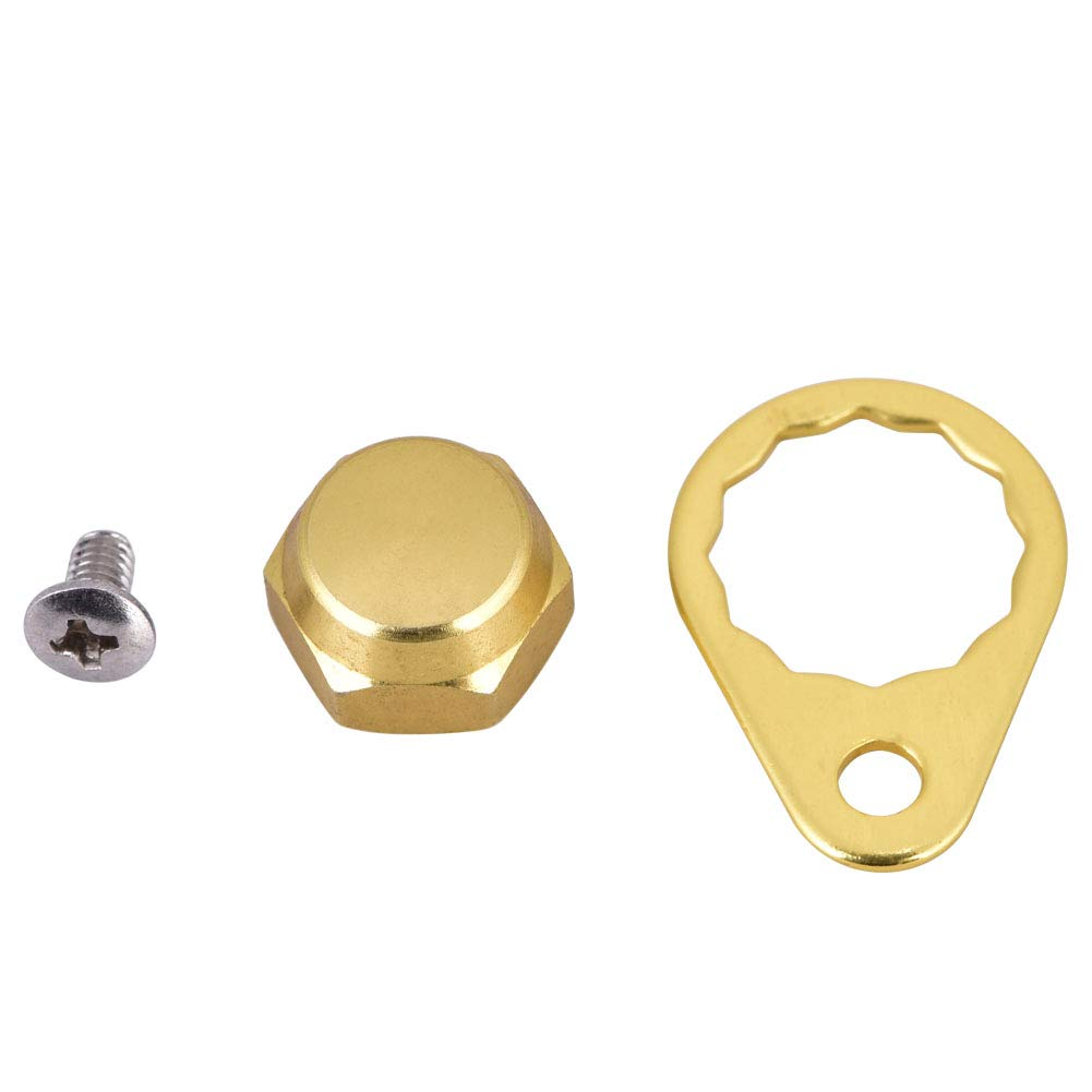Pack of 2 Tbest Screw Nut Cap Bearing Cover for Fishing Reel Left//Right Handle Knob Locking Plate DIY Fishing Accessory 4 Colors Selectable Gold-Left Hand