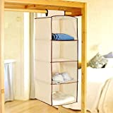 Inditradition Fancy & Foldable 4 Layer Cream Hanging Storage Wadrobe Almirah available at Amazon for Rs.349