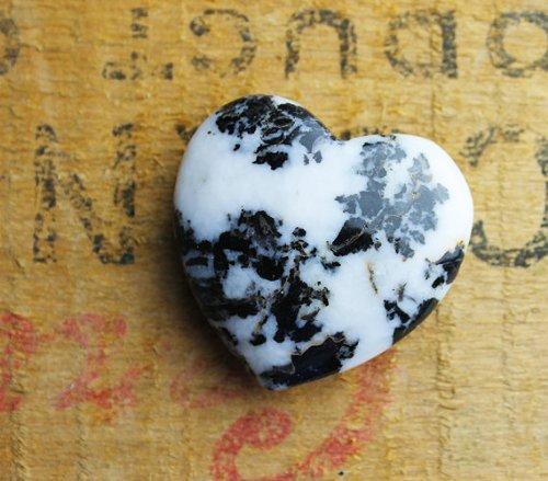 Zebra Jasper Puffed Heart Shaped Rock (Precious Heart Stone)