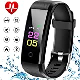NUHIWIY Fitness Tracker,Activity Tracker,Heart Rate Monitor,Waterproof Smart Watch,Calorie Counter,Sleep Monitor,Pedometer,Fitness Tracker for Women,Men,Kids,Multi-Language,Android&iOS,Bluetooth (WWD)