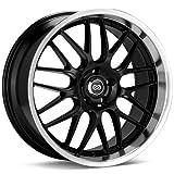 rims for 2014 jeep cherokee - 18x7.5 Enkei Lusso (Black) Wheels/Rims 5x110 (469-875-5142BK)